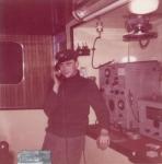 André Van Torre bij de telefoon op de Z.402 Atlantis (Bouwjaar 1963)