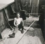 André Van Torre op het dek van de Z.402 Atlantis (Bouwjaar 1963)