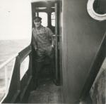 Andr� Van Torre aan boord van de Z.402 Atlantis (Bouwjaar 1963), author: Onbekend