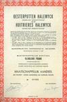 """Aandeel van de firma """"Halewyck & Cie"""""""