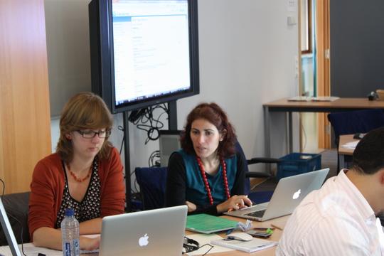 Nathalie (VLIZ) and Claudia Delgado (UNESCO/IOC Project Office for IODE)