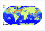 Shipping routes of cargo vessels larger than 10000 gigatonnes in 2007.
