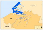 Location of the Voordelta, Westerschelde, Schelde and tributaries