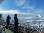 Polar landscape from a research vessel