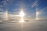 Halo around the sun at eastern Weddell Sea