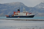 Research vessel Polarstern near South Georgia