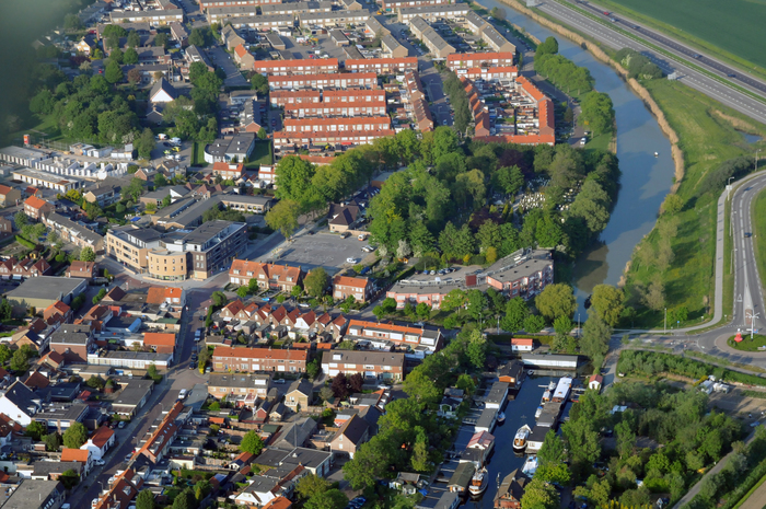 Mainroute in Arnemuiden aerial overview
