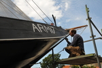 Restauration of historic ship at shipwarf in Arnemuiden