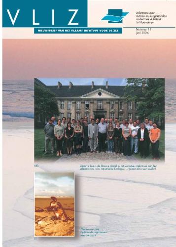 VLIZ Nieuwsbrief 11. Cover
