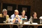 Plenary open session, from left to right: Teodoro Ramirez (IEO, Spain/JPI Oceans), David Paterson (MASTS, UK), Josien Steenbergen (EFARO Secretariat) and Wendy Bonne (JPI Oceans)