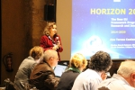 Ana-Teresa Caetano (European Commission DG R&I) presenting the updates on the Horizon 2020 programme