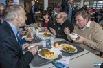 Action in student restaurant 'De Brug' Sustainable Fish Week 2013: visit from the vice-rector