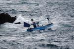 Vissers trotseren de zee in de Baai van Biskaije