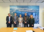 Meeting at Flanders Marine Institute (VLIZ) between VLIZ-director Jan Mees, prof. Colin Janssen, rector Anne De Paepe and vice-rector Freddy Mortier