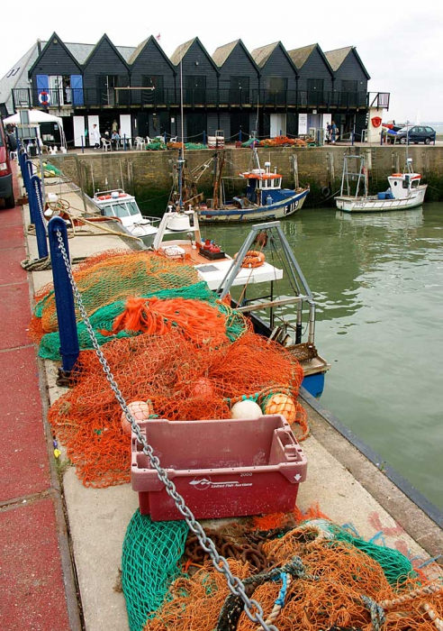Nets along the quay