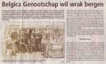 Belgica Genootschap wil wrak bergen