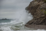 Storm in Dinard (Brittany, France)
