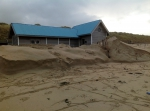 6th December 2013 @ Belgian coast: spring tide combined with storm... The sea giveth, and the taketh away. Massive beach erosion (a layer of more than 1.5m disappeared).