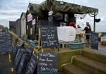 Fish selling huts
