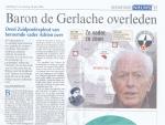 Baron de Gerlache overleden