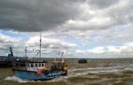 The fishermen and boats have become something of a tourist attraction in the summer months. But in the winter, when the visitors have gone, work carries on, no matter how cold and stormy the weather.
