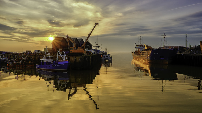 Whitstable Harbour at Sunset