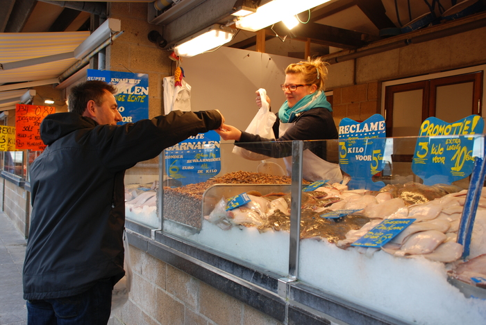 Fish market Ostend