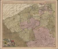 Flandriae comitatus in ejusdem subjacentes ditiones accuratissime divisus una cum adjacentibus