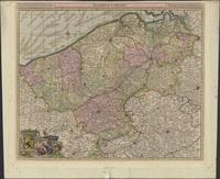 Flandriae comitatus in ejusdem subjacentes ditiones accuratissime divisus una cum adjacentibus (1649-1709)