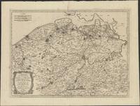Centrones et grudii in Morinis. Les évèschés de Gand et de Brugges. Partie orientale du Comté de Flandre, ou sont la Flandre Imperiale et les quartiers de Gand et du Franconat dans la Flandre Teutone (1703)