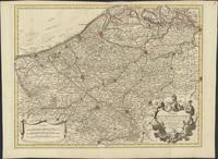 Carte du Comté de Flandre. Dressée sur differens morceaux levez sur les lieux fixez par les observations astronomiques