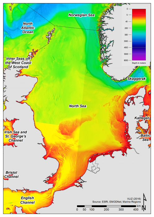Bathymetry of the North Sea