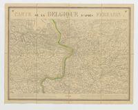 Carte de la Belgique d'après Ferraris, augmentée des plans des six villes principales et de l'indication des routes, canaux et autres traveaux exécutés depuis 1777 jusqu'en 1831. 42 feuilles. I - Anvers