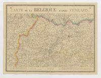 Carte de la Belgique d'après Ferraris, augmentée des plans des six villes principales et de l'indication des routes, canaux et autres traveaux exécutés depuis 1777 jusqu'en 1831. 42 feuilles. I - Bruxelles
