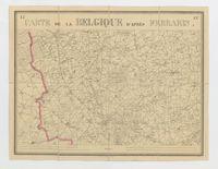 Carte de la Belgique d'après Ferraris, augmentée des plans des six villes principales et de l'indication des routes, canaux et autres traveaux exécutés depuis 1777 jusqu'en 1831. 42 feuilles. I - Ypres