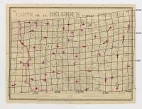 Carte de la Belgique d'après Ferraris, augmentée des plans des six villes principales et de l'indication des routes, canaux et autres traveaux exécutés depuis 1777 jusqu'en 1831. 42 feuilles. II - Ypres