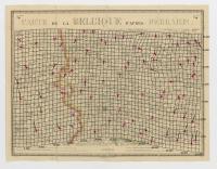 Carte de la Belgique d'après Ferraris, augmentée des plans des six villes principales et de l'indication des routes, canaux et autres traveaux exécutés depuis 1777 jusqu'en 1831. 42 feuilles. II Courtrai