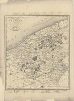 La Flandre Occidentale divisée en Arrondissemens et Cantons de Justice de Paix. Kaart van de Provincie West-Vlaanderen.