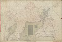 Fishing chart - North coast of Scotland, Little Minch to Fair Isle and Peterhead. Kaart van visserijgronden ten noorden van Schotland.