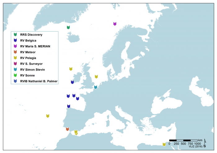 Locations were the ROV Genesis has been deployed (2017)