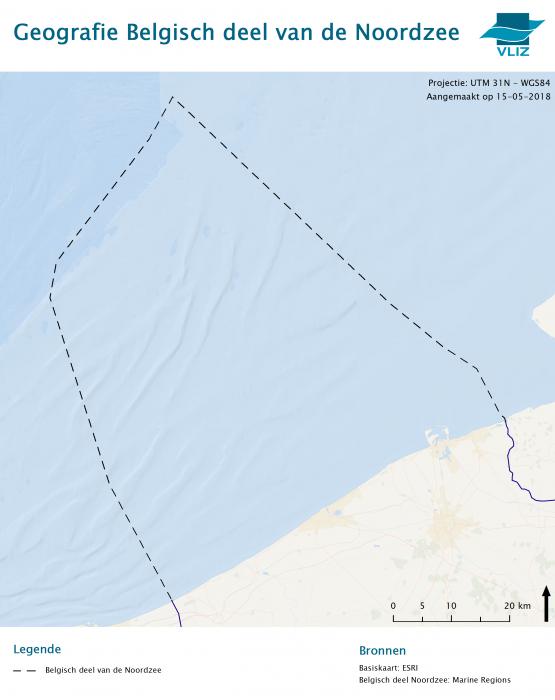 Boundary Belgian part of North Sea
