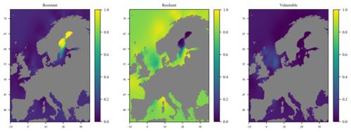 Distribution of macrobenthos living modes in European seas