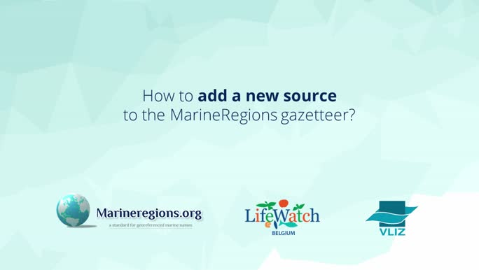 How to add a new source to the MarineRegions gazetteer?