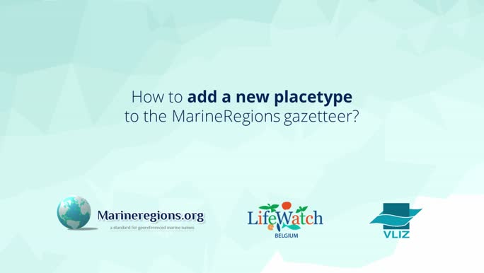 How to add a new placetype to the MarineRegions gazetteer?