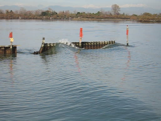 Experiments impacts boat-generated waves