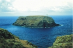Ilhéu da Vila on the south coast of Santa Maria island.