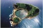 Aerial view of Vila Franca Islet.