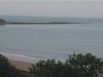 Filey Brigg and Filey Bay.