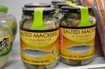 Gezouten makreel