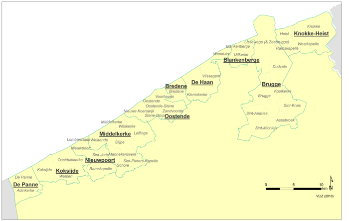 Municipalities of the Belgian Coast